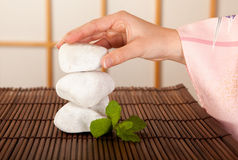 Zen stones in serenity Stock Photos