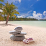 Zen stones and shells Royalty Free Stock Image