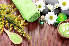 Zen stones and spa products Stock Image