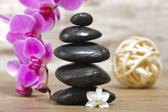 Zen stones in spa and wellness Stock Photos