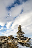 Zen stones stack rock flow Royalty Free Stock Photos