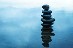 Zen stones stack Royalty Free Stock Photography