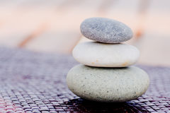 Zen stones stacked Royalty Free Stock Images