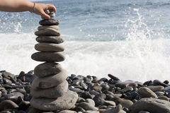 Zen stones stacked Stock Photos
