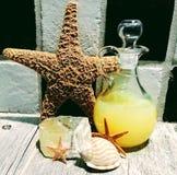 Vanilla Bubble Bath and Starfish. Zen stones and starfish creating a peaceful feeling royalty free stock photos