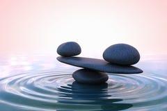 Zen stones. Sunrise Stock Photo