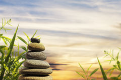 Zen stones tower Royalty Free Stock Photos