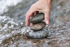Zen stones in the water Stock Photo
