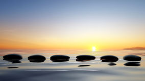 Zen stones in the water Royalty Free Stock Photos