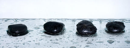 Zen stones with water drops Royalty Free Stock Image