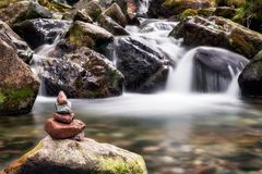 Zen stones and water royalty free stock photography