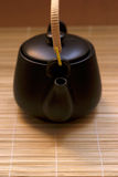 Zen Style. Black oriental teapot, more in my gallery Stock Images