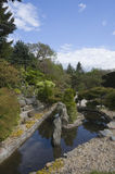 Zen style garden. View of the Zen style garden in Pollok Park, Glasgow, Scotland Stock Photos
