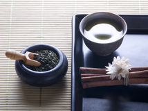 Zen style green tea Royalty Free Stock Image