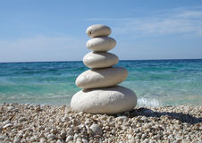 Zen Style Stones. By the Sea stock images