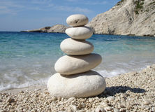 Zen Style Stones. By the Sea royalty free stock photos