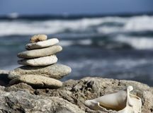 Zen style stones Stock Photos