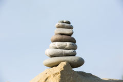 Zen-style stones stack Stock Photography