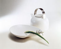 Zen style tea pot and vase. Drum scanned Royalty Free Stock Image