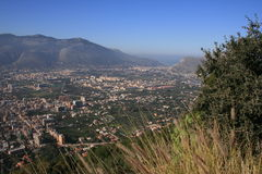 Zen suburbs of Palermo. Scenic view of Zona Espansione Nord or Zen suburbs of Palermo city, Sicily, Italy Royalty Free Stock Image