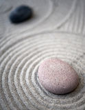 Zen-table-stones Royalty Free Stock Image