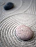 Zen-table-stones. Some stones on a zen garden table Royalty Free Stock Image