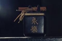 Zen tea cup set isolated stock photos