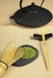 Zen tea on tatami Royalty Free Stock Images