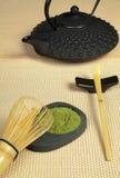 Zen tea on tatami Royalty Free Stock Images