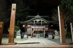 Zen Temple at Night, Kinosaki, Japan Stock Image