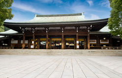 Zen temple under blue sky. In Japan Royalty Free Stock Images