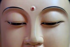 Zen twarzy Buddha zakończenie Obrazy Royalty Free