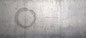 Zen Wall. Zen Symbol in Concrete Wall Royalty Free Stock Photography