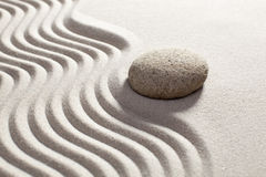 Zen waves on sand for relaxation Royalty Free Stock Photography