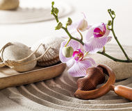 Zen wellness with femininity Royalty Free Stock Images