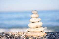 Zen white stones Royalty Free Stock Photos