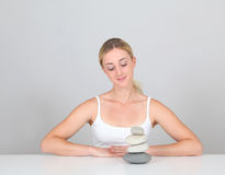 Zen woman Stock Photography