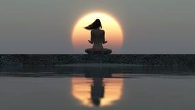 Zen woman Royalty Free Stock Photos