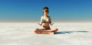 Zen woman Stock Photo