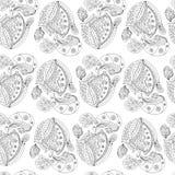 Zen -Zen-doodle άνευ ραφής Στοκ Εικόνα