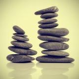 Zen zrównoważeni kamienie Zdjęcia Royalty Free