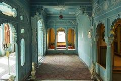 Zenana Mahal ou câmaras da rainha, palácio da cidade, Udaipur, Rajasthan, Índia fotografia de stock