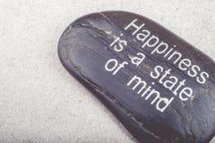Zenbild av ett meddelande på en sten Arkivbilder