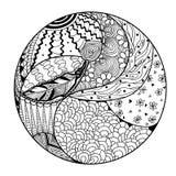 Zendala Линия искусство иллюстрация вектора