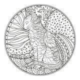 Zendala Linha arte Imagens de Stock