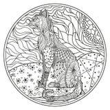 Zendala Linje konst vektor illustrationer