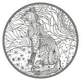 Zendala Linje konst stock illustrationer