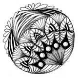 Zendala - mandala του zentangle Ελεύθερη απεικόνιση δικαιώματος