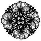Zendala - mandala του zentangle Στοκ φωτογραφία με δικαίωμα ελεύθερης χρήσης