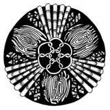 Zendala - mandala του zentangle Διανυσματική απεικόνιση